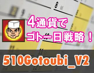 4通貨ペアでゴトー日戦略!『510Gotoubi_V2』なら低リスクで年利+24%