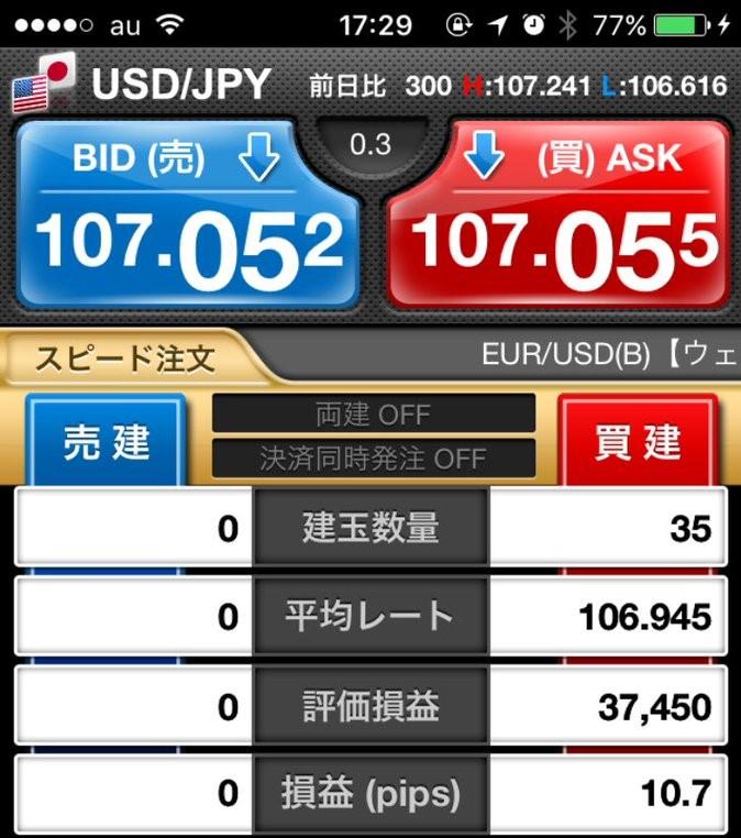 4月10日(火)ドル円+26.7pips