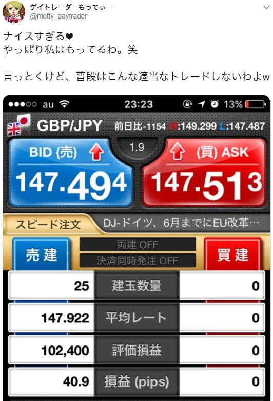 5月8日(火)~10(木)ドル円・ポンドル・ポンド円+約45pips~ポンドの快楽~