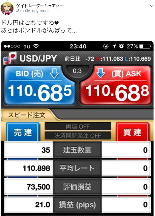 5月16日(水)~21(月)ドル円+約43.5pips~適当にトレード~