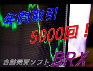 月間取引回数200回以上!取引回数重視の方に 『BRX』