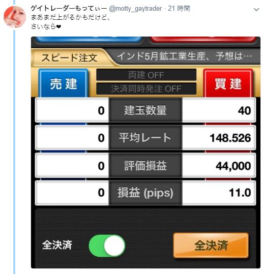 7月11日(水)~7月13日(金)ドル円その他+約19.8pips~チャンスの波、それは儚くも過ぎる~