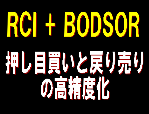 ドル円 10分足 戻り売りサインの例【RCI3本ライン+BODSOR】
