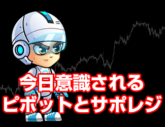 【FX/CFD/仮想通貨】今日のサポレジとピボット