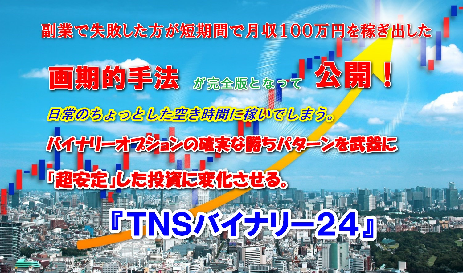 『TNSバイナリー24』順張り派の方向け勝率80%!