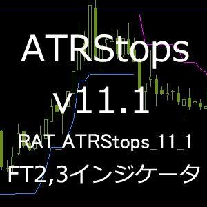 RAT_ATRStops_v11.1(ATR Stops)インジケータ 【ForexTester2,3用】