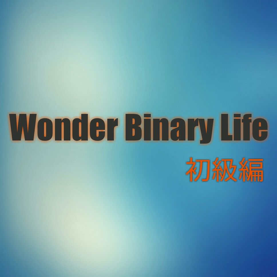 Wonder Binary Life 初級編