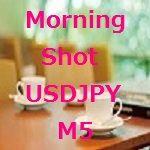 トレーリングタイプのUSD/JPYの朝スキャです。