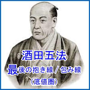 酒田五法 最後の抱き線/包み線(底値圏)