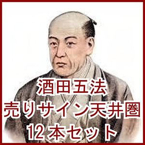 酒田五法 売りサイン(天井圏)インジケーター12本セット
