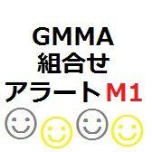 GMMAの状態を設定(組合せ自由[D1,H4,H1,M30,M15,M5,M1])。好みの状態になるとアラート、メール、マーク表示で通知します。