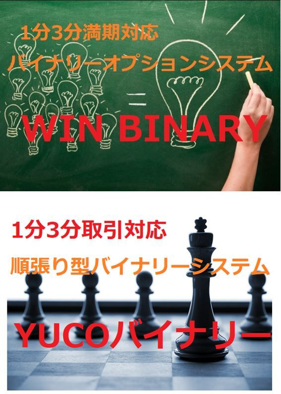 1分3分対応 バイナリーツール 【YUCO BINARY】【WIN BINARY】セット販売