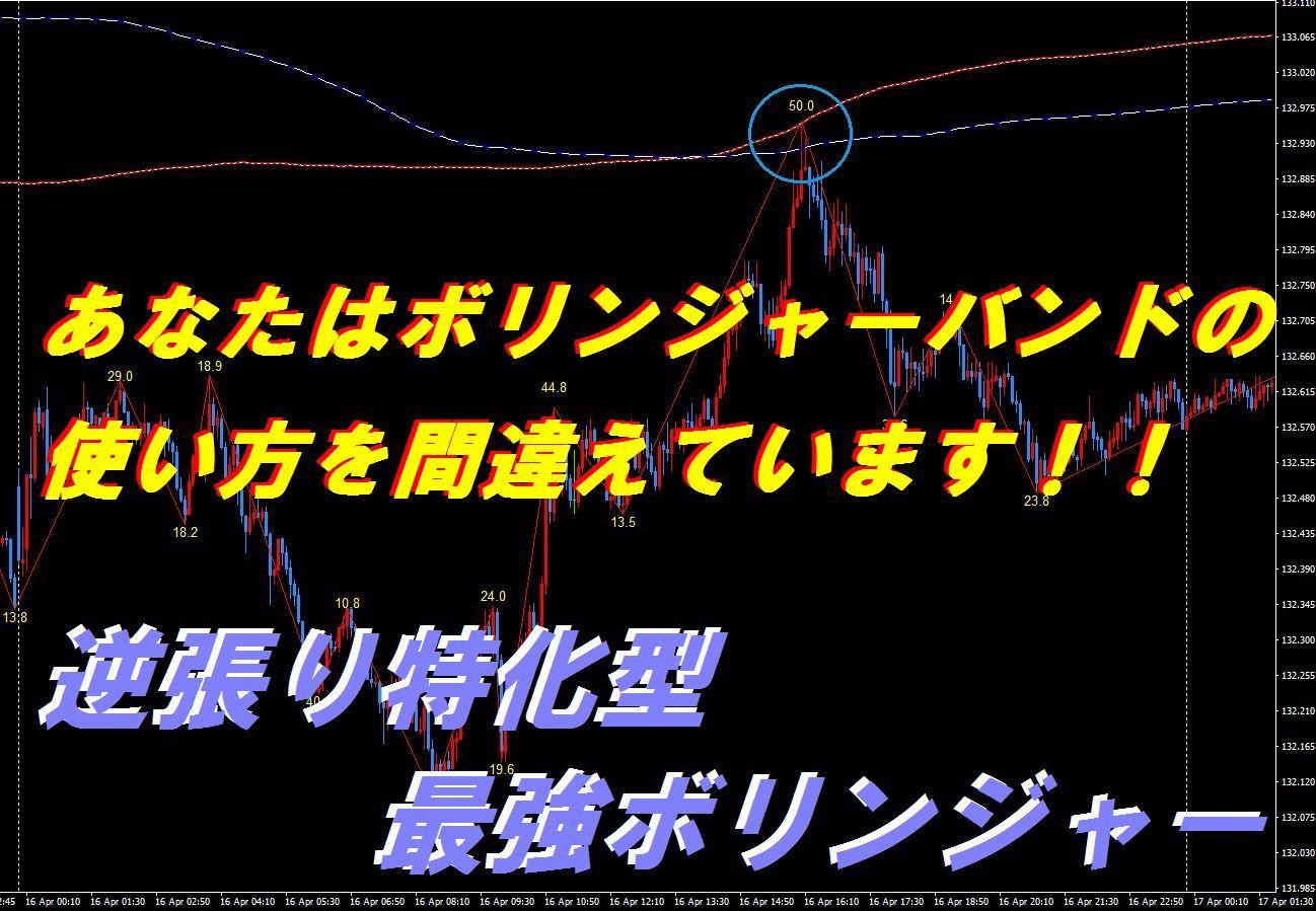 【最強インジ】逆張り特化型最強ボリンジャー