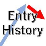 チャート内にトレード履歴表示「Entry History」