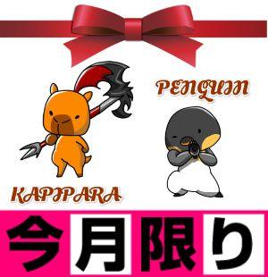 カピパラ&ペンギン 優待セット!!