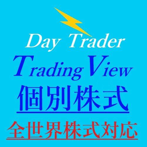 ☆Day Trader TradingView☆(全世界個別株式トレード)新発売!