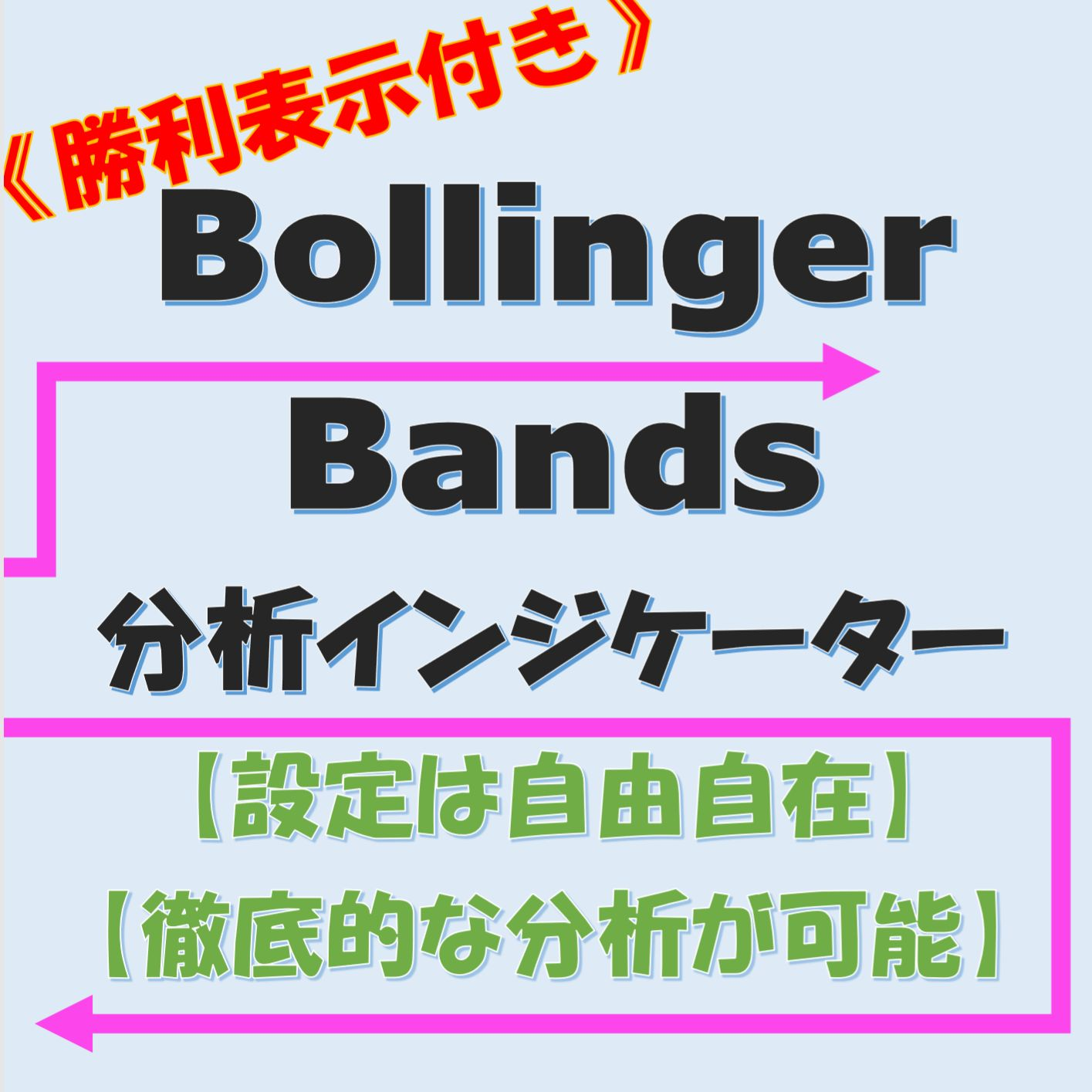 【勝率表示付き】Bollinger Bands・分析インジケーター