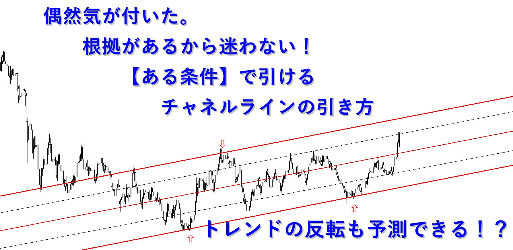 偶然気が付いた。根拠があるから迷わない!【ある条件】で引けるチャネルラインの引き方。