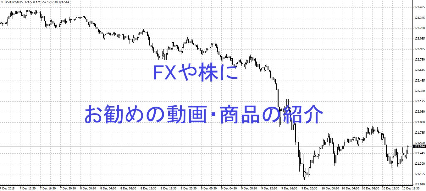 FXや株にお勧めの動画や商品の紹介