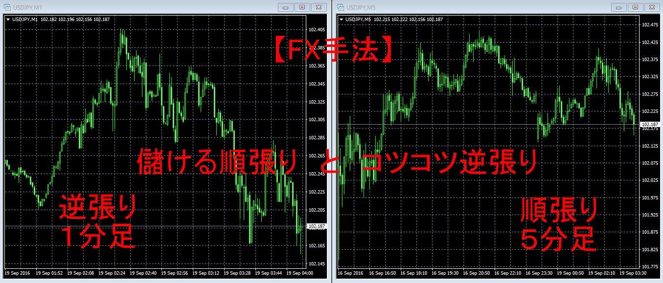 【FX手法】儲ける順張り と コツコツ逆張り