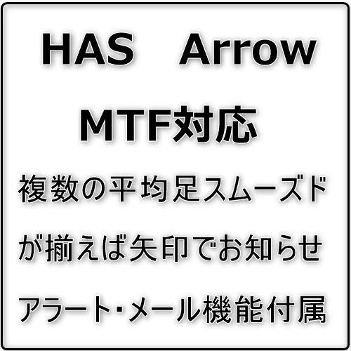 MTF対応、複数の平均足スムーズドが揃えば矢印でお知らせします