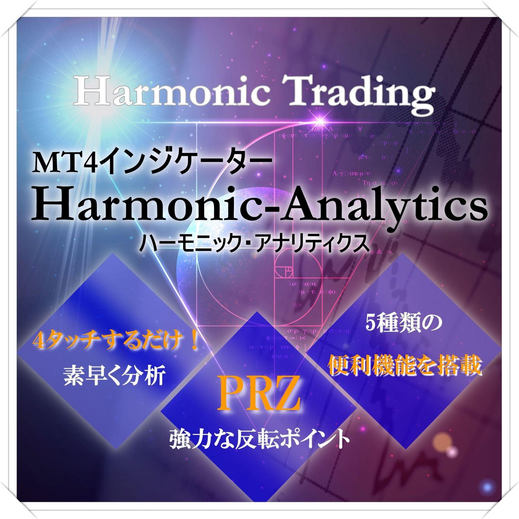 ハーモニックパターンMT4インジケーター!「Harmonic Analytics」裁量型PRZ分析ツール