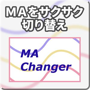 MA(移動平均線)の時間足や期間をかんたんに切り替えられるインジケーター
