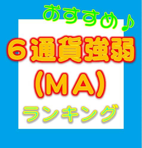 6通貨強弱ランキング(MA別)