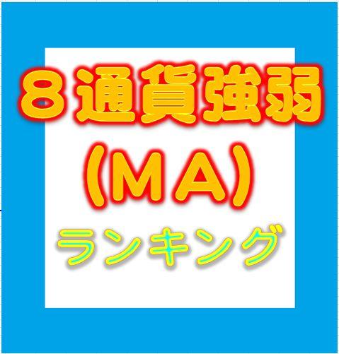 8通貨強弱ランキング(MA別)