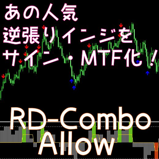 バイナリーオプションや逆張りに人気のRD-ComboをMTF・サイン化。高性能になったRD-Comboもセットでご提供!