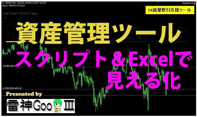FX初心者、勝てない方、資金管理で投資戦略を! MT4スクリプトとExcelで、まずは取引履歴の管理を始めましょう