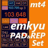 スキャルピング・デイトレード支援ユーティリティーemkyuPAD,取引履歴グラフ表示emkyuREPセット販売