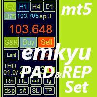 MT5用スキャルピング・デイトレード支援ユーティリティーemkyuPAD,取引履歴グラフ表示emkyuREPセット販売