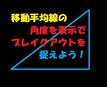 MAの設定した角度にサインが出るインジケーター
