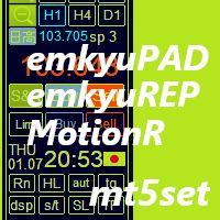 裁量取引支援ユーティリティーemkyuPAD,口座履歴グラフ表示emkyuREP,MTFインジMotionRのセット