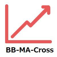 移動平均線クロス、ボリンジャーと移動平均線のクロス、移動平均線の角度でサイン表示