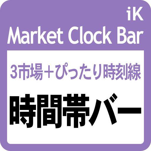 市場がオープンしている時間帯を細長いバーで表示します。市場は13の都市等の中から選択できます。指定したタイムゾーンで 時間と日付(日・週初・月初)のラベルと垂直線も表示します。
