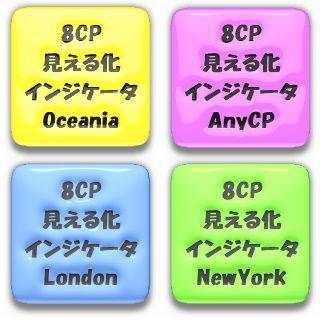 8通貨ペアの相対的な強さ弱さをグラフとしてリアルタイムに描画する、8CP見える化インジケータ(Oceania,London,NewYork,AnyCP)の4点フルセットです。25%OFF