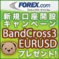 BandCross3 EURUSD(forex.comキャンペーン)