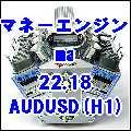マネーエンジン ma 22.18 AUDUSD(H1)