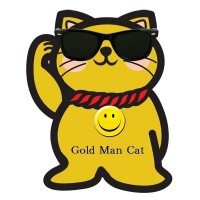 Gold Man Cat